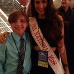 Frankie Flora with Miss USA National